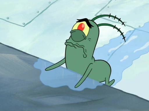 Image result for plankton crying
